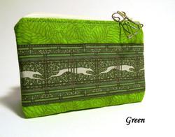 Green Greyhound Coin Purse