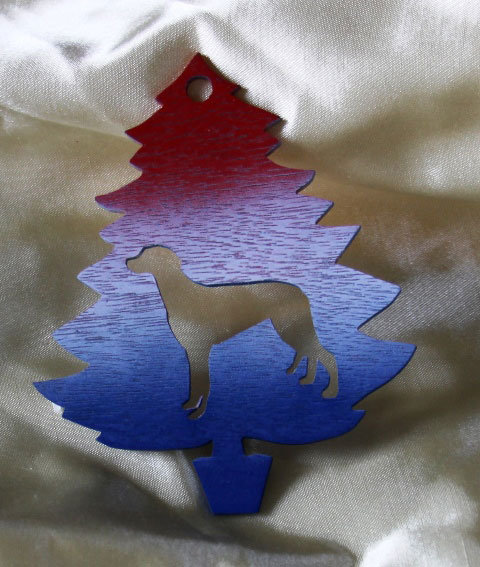 Red, White & Blue Greyhound Ornament