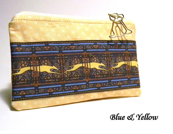 Blue-Yellow Greyhound Coin Purse