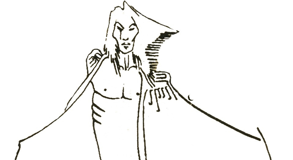 Original Character Ink Illustration
