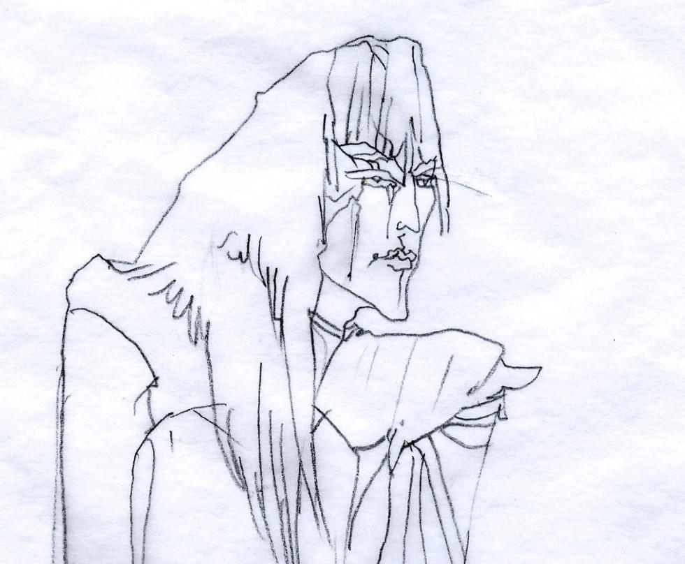 Original Character Penciled Illustration