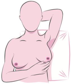 Self breast exam - step 4