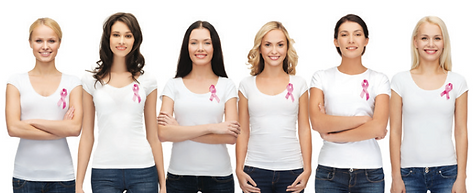 Women for breast cancer awareness month 6 women