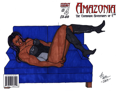 Amazonia Issue #4 Custom Cover - Pin Up 2