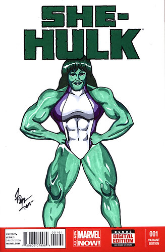 She-Hulk #1 - muscle cover