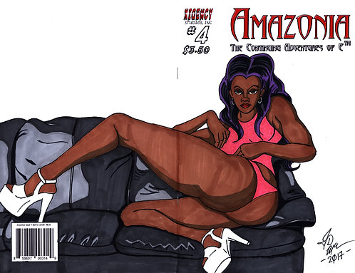 Amazonia Issue #4 Custom Cover - Pin Up 1