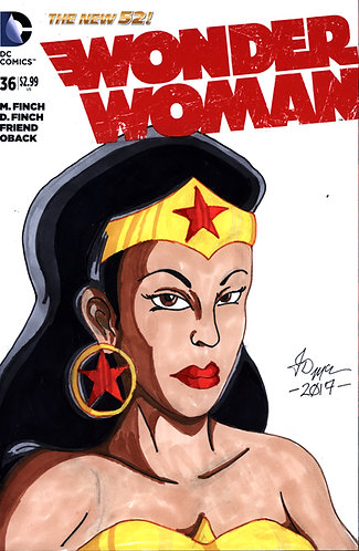 Wonder Woman #36 -Custom Cover - Nubia 1
