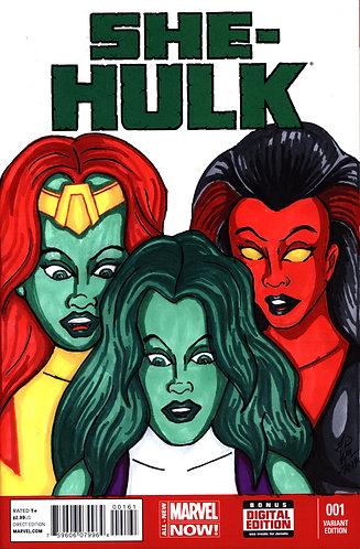 She-Hulk #1 - Custom Cover - She-Hulks 1