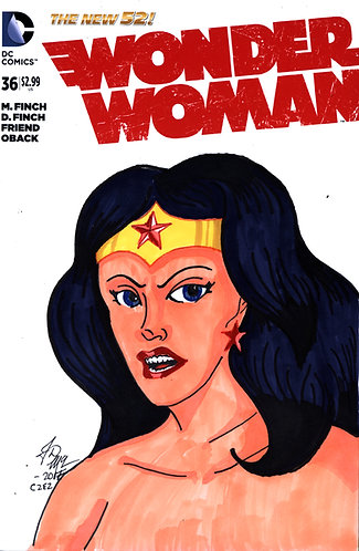 Wonder Woman #36 -Custom Cover - Diana 1