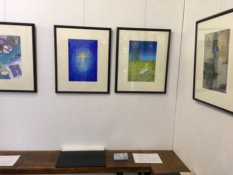 「古本屋台」とその装画展、前半の展示が終了いたしました