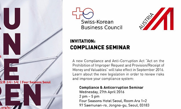 Compliance and Anti-Corruption laws Seminar with Advantage Austria