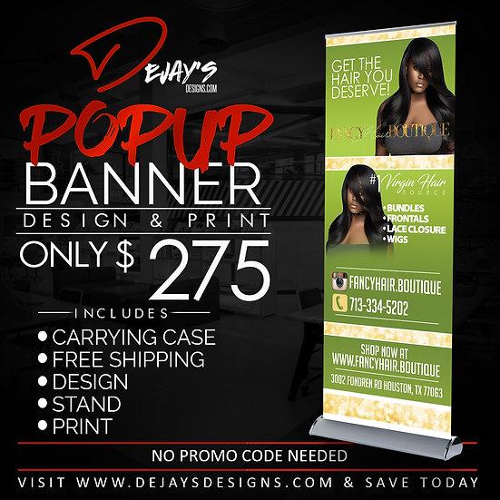 Popup Banner Design,Print, & Ship