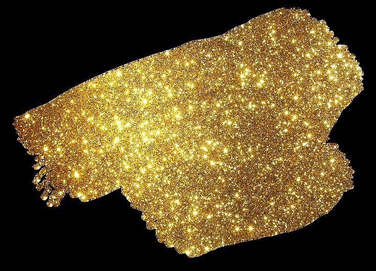 brush stroke glitter gold .png