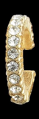 Pendiente Dorado con Cristales Blancos