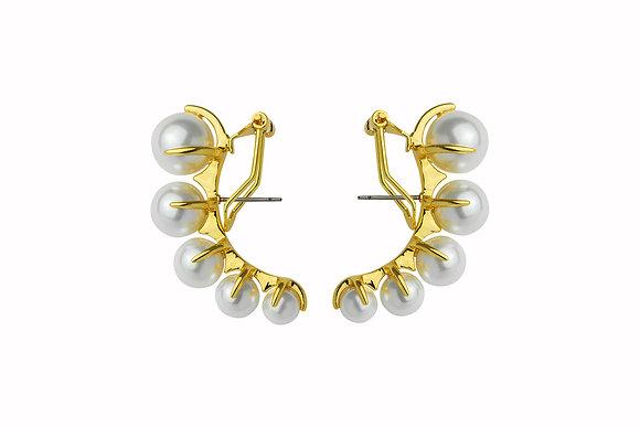 Aretes de Latón con Perlas Cultivadas