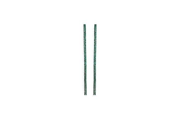 Aretes Largos con Piedra Verde