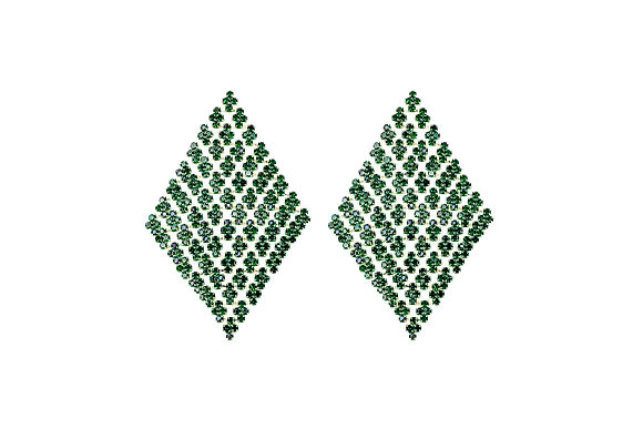 Aretes Rombo con Piedra Verde