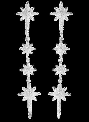 Aretes Largos con Estrellas