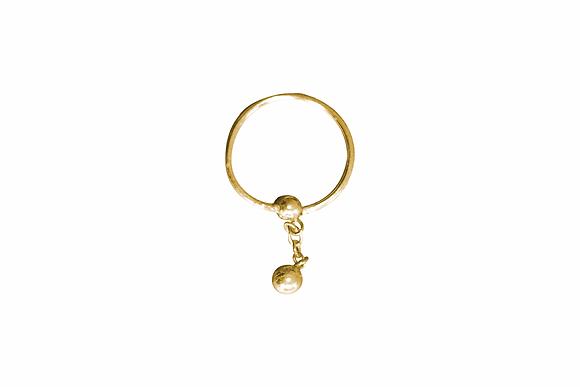 Piercing Dorado con Esfera