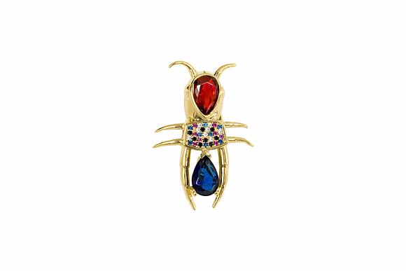 Pin pequeño insecto con zirconia