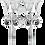 Thumbnail: Broquel de Plata con Swarovski Blanco