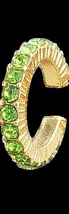 Pendiente Dorado con Cristales Verdes