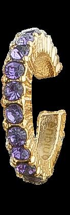 Pendiente Dorado con Cristales Morados
