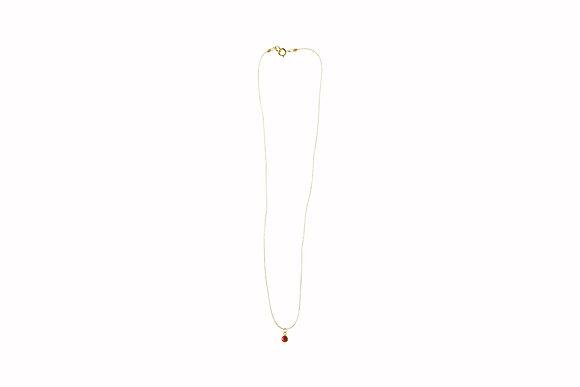 Collar Hilo de Plata con Dije Rojo
