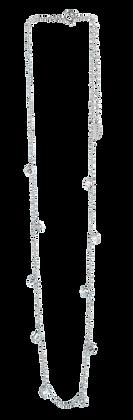 Cadena de Plata con Pavee Blanco