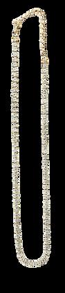 Gargantilla Dorada con Cristales Blancos Distintos Tamaños