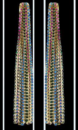 Aretes Largos Multicolor