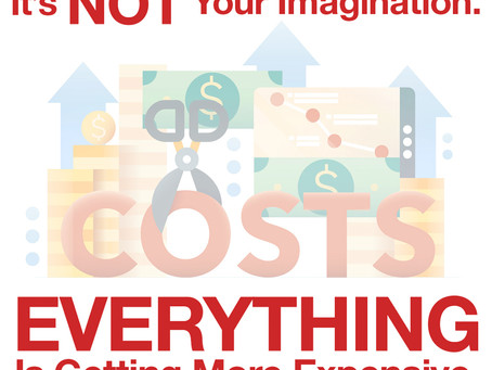 It's Not Your Imagination. Everything is getting more expensive.