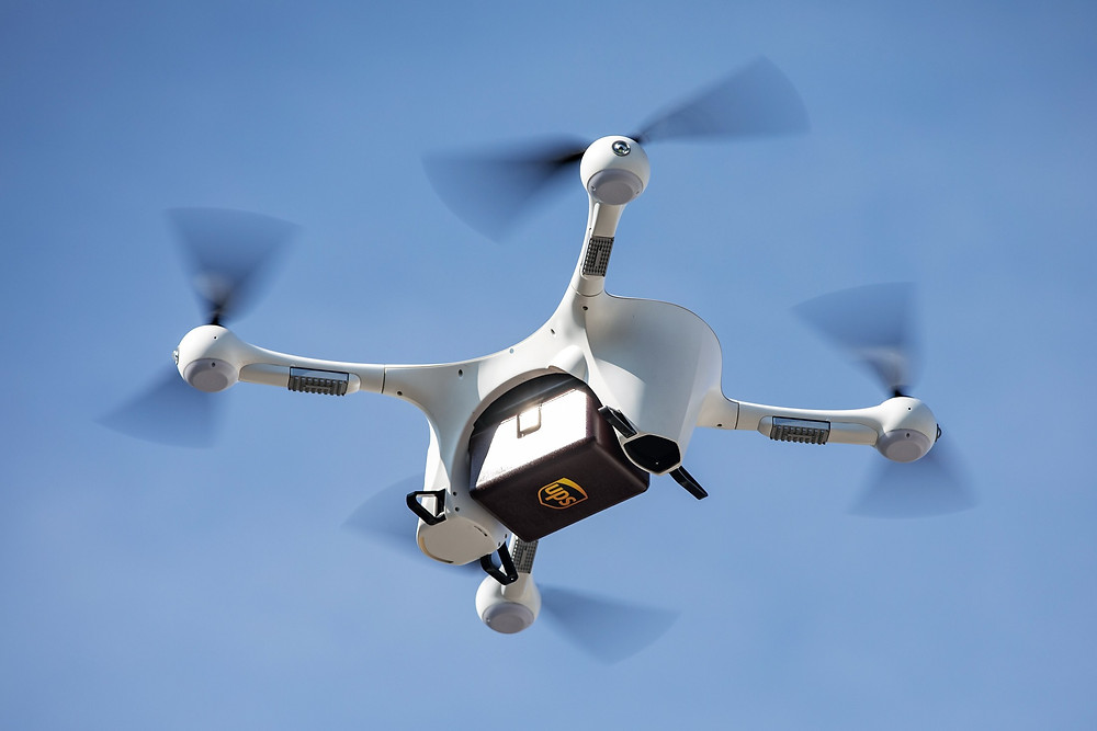 UPS Delivery Drone in flight