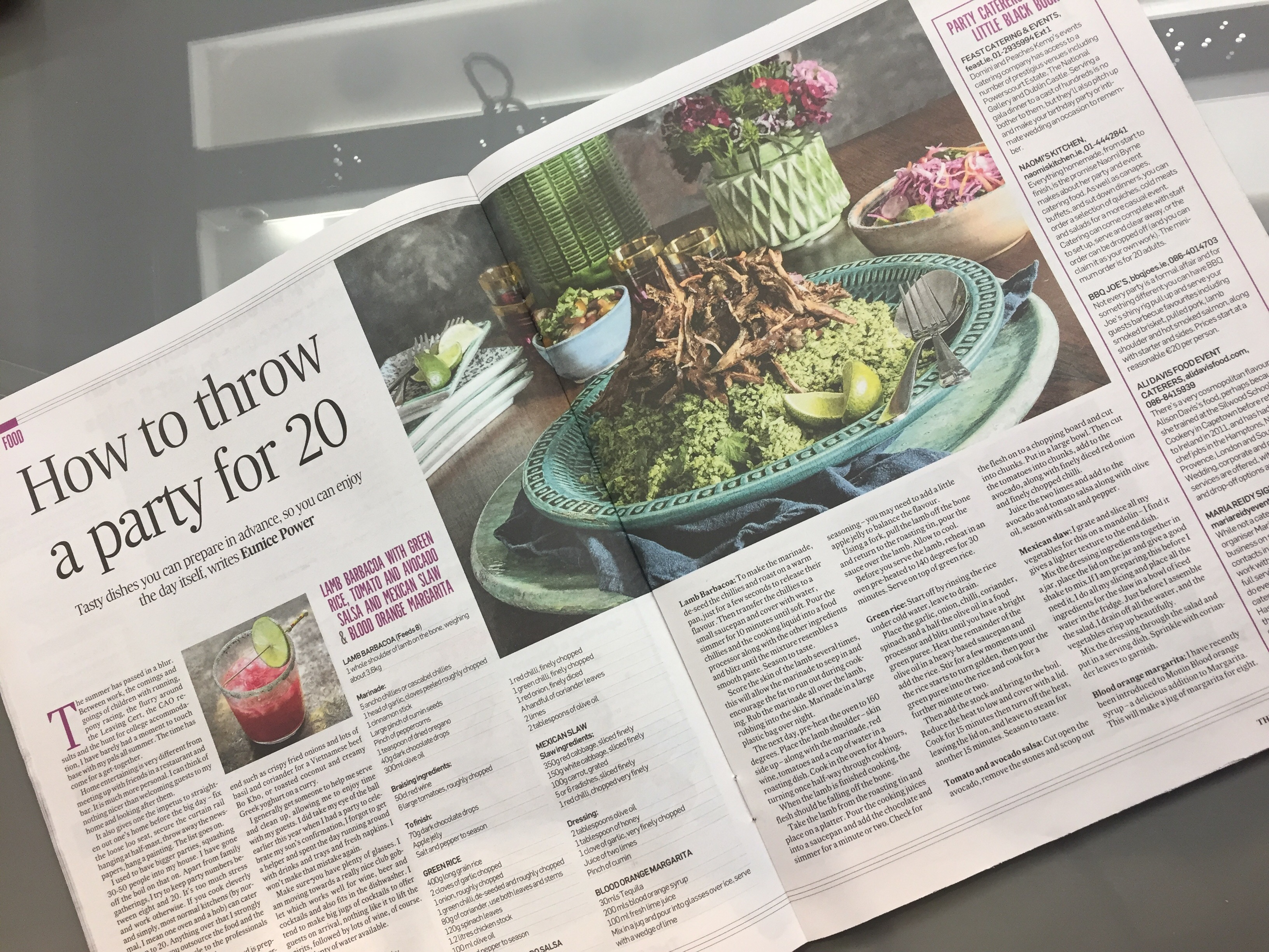 Irish Times - Mexican Party Food