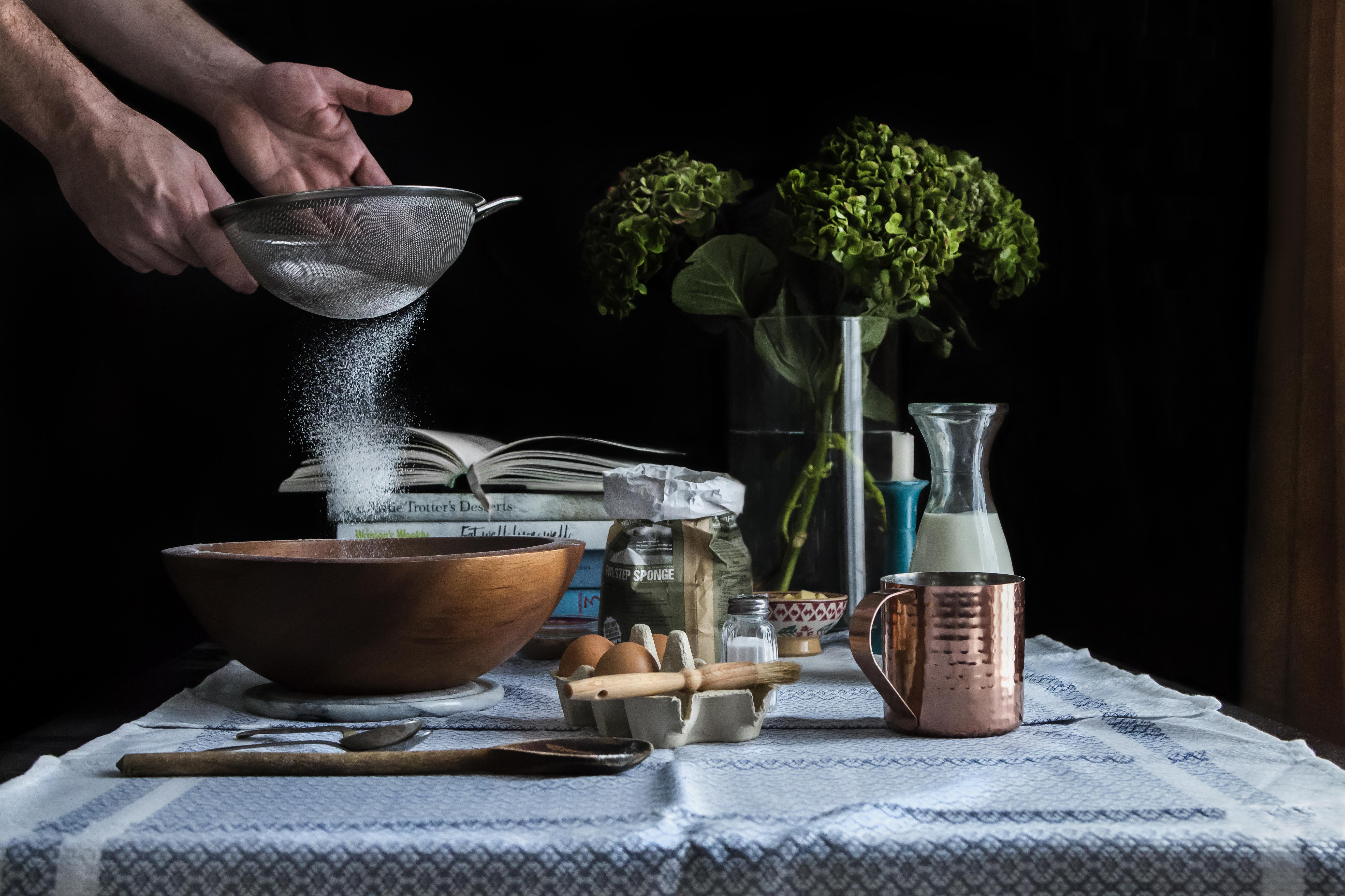 Moody Food Art - Making Pancakes