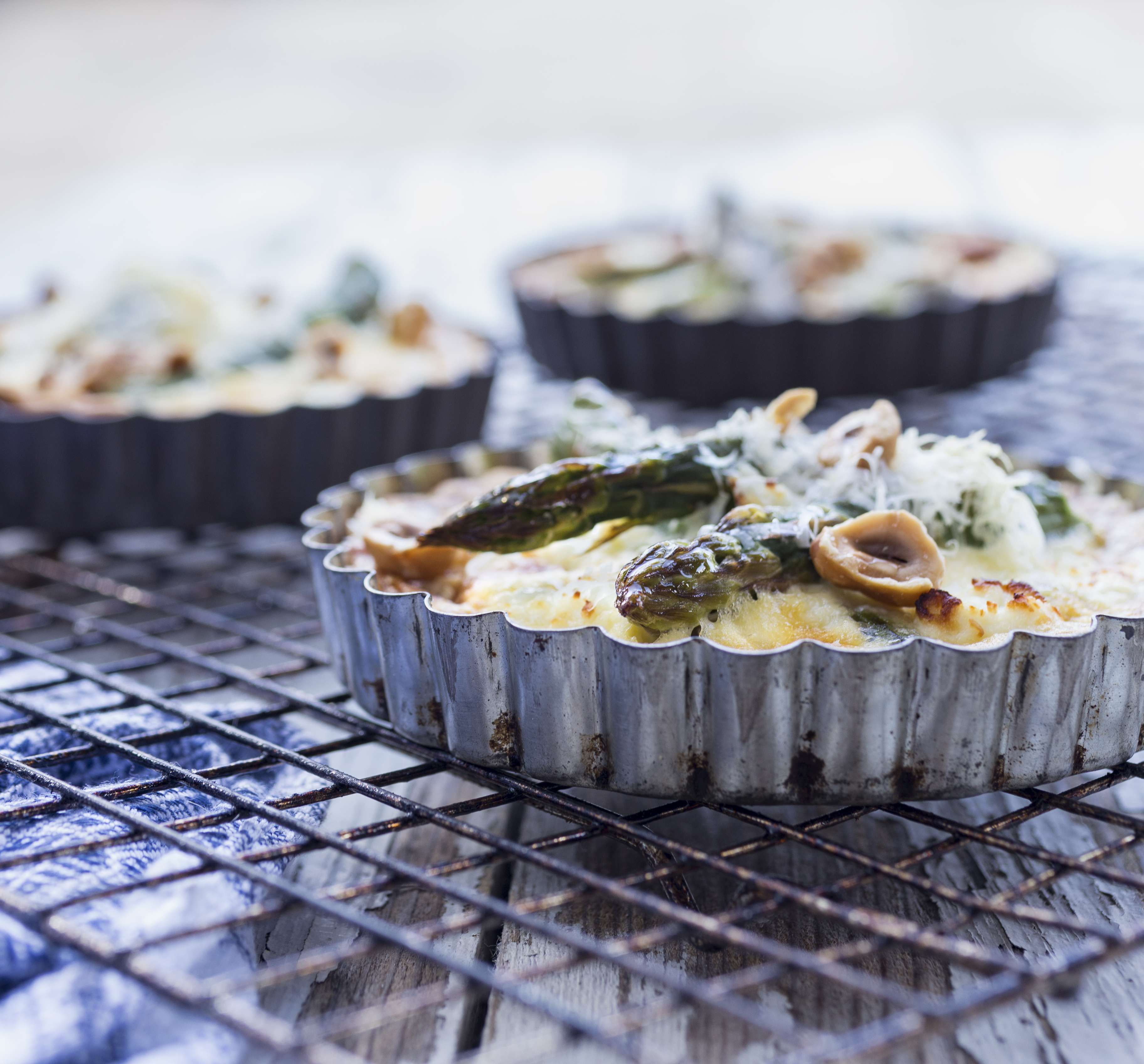 Asparagus & Goats cheese Tartlets