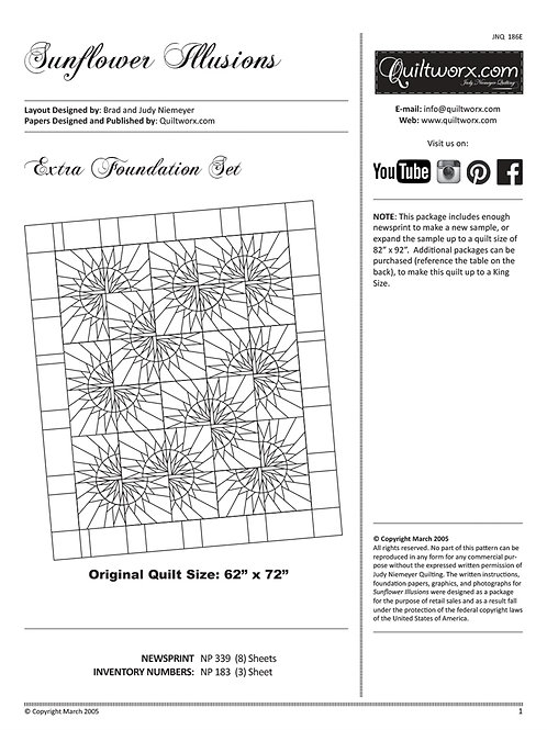Sunflower Illusions Replacement Papers