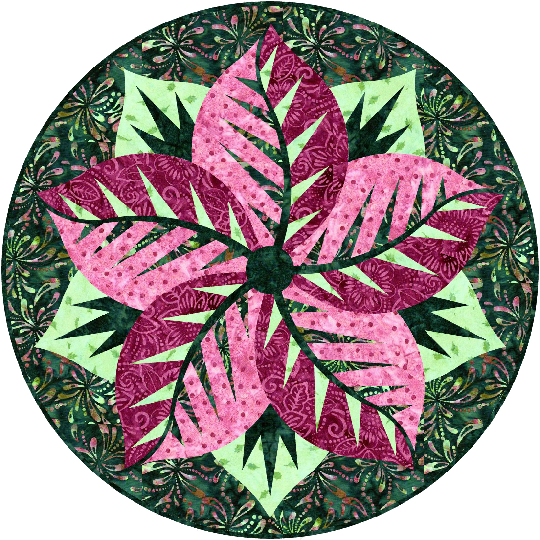 Poinsettia-Watermelon