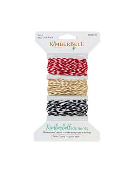 Kimberbell Twine-Red, Tan and Black