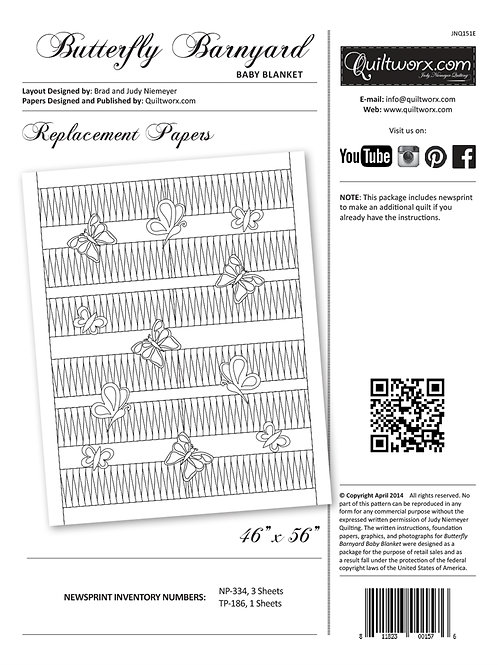Butterfly Barnyard Replacement Papers