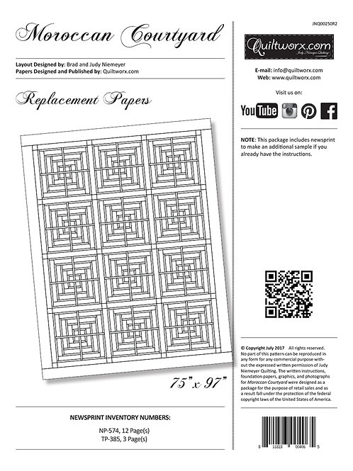 Moroccan Courtyard Replacement Papers
