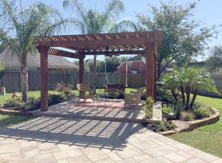 Add some shade and personality to your landscape design with a pergola
