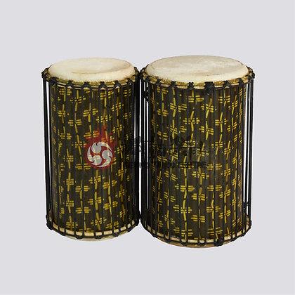 纖維非洲低音鼓 (白色)