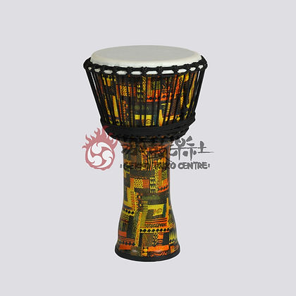 PVC Djembe (Orange Pattern)