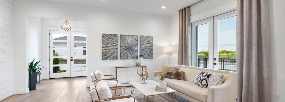 Living Room + Foyer
