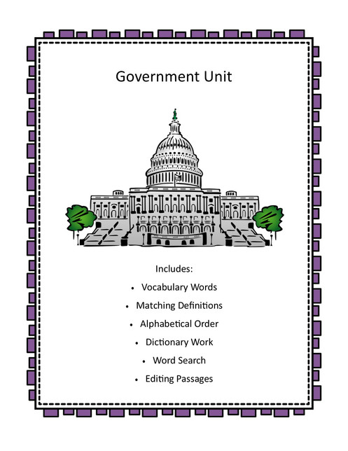 Government Unit - Language Activities