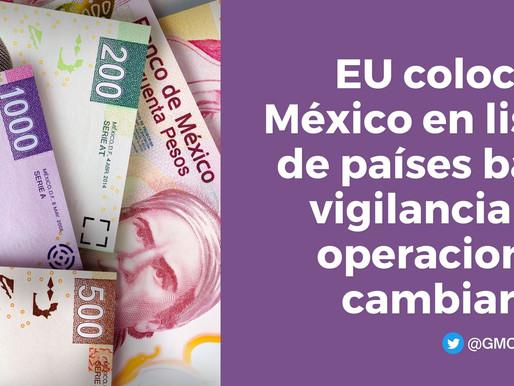 EU AGREGA A MÉXICO EN LISTA DE PAÍSES BAJO VIGILANCIA DE OPERACIONES CAMBIARIAS