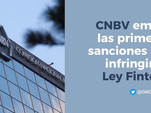 CNBV EMITE LAS PRIMERAS SANCIONES POR INFRINGIR LA LEY FINTECH