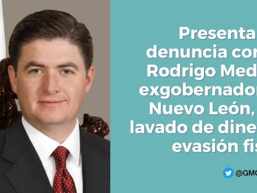 PRESENTA UIF DENUNCIA CONTRA RODRIGO MEDINA, EX GOBERNADOR DE NUEVO LEÓN POR LAVADO DE DINERO