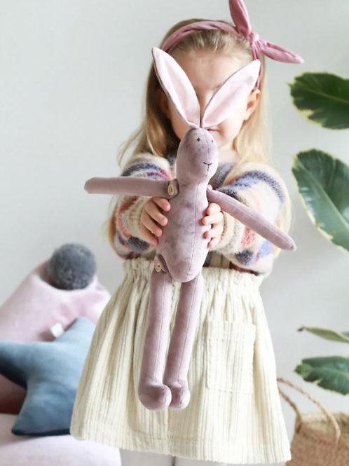 Minkštas žaislas - rožinis zuikutis